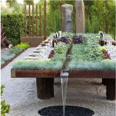 How's this for a garden table?