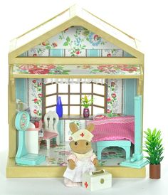 Sylvanian Families Decorated Vintage House/Cottage Hospital Set Furniture + Lots