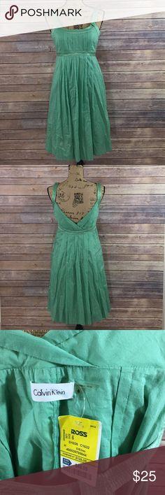 Calvin Klein Dress NEW Size 6 Calvin Klein Dress Green V Cut Back Brand New With Tags Calvin Klein Dresses