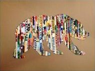 Silhouette Art With Magazine Strips