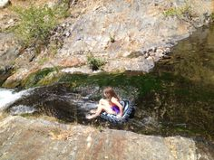 Braving the falls!