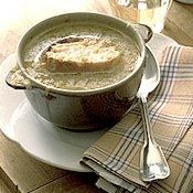 Caramelized Balsamic-Red Onion Soup With Cheese-Topped Croutons Recipe ...