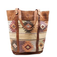 This gorgeous tote was handmade in Guatemala. Available at www.mooreaseal.com
