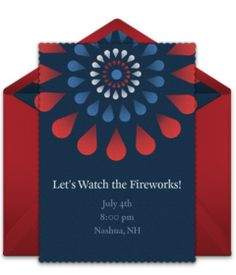 Free Red White And Blue Patriotic Invitations  Patriotic Party