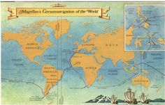 sailing world route | magellan s route around the world route of exploration in