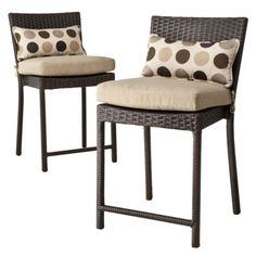 Atlantis 2-piece Wicker Patio Bar Stool Set