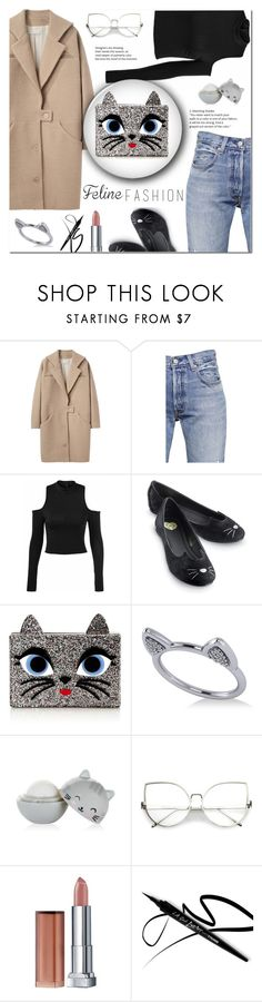 """Feline Fashion"" by amelle ❤ liked on Polyvore featuring Cacharel, Levi's, Karl Lagerfeld, Allurez and Maybelline"