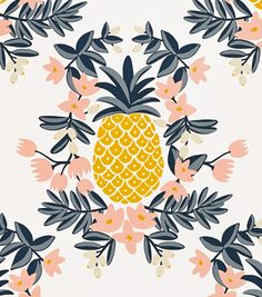 Pineapple Sorbet wallpaper by Rifle Paper Co.