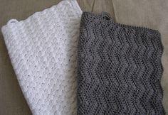 DIY - Hæklede håndklæder i zigzagmønster fra Halager