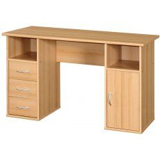 Maryland Desk by Alphason Beech effect 3 statonary cupboards with CPU cupboard Home Office Furniture Design, Office Table Design, Home Office Table, Space Saving Furniture, Home Office Desks, Home Decor Furniture, Rattan Furniture, Room Door Design, Game Room Design