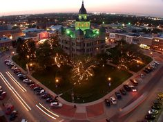 At the outskirts of the Dallas-Fort Worth Metroplex, Denton, #Texas is its own full-blown city, with a population of 120,000 and two state universities--it also has one of #America's greatest main streets. #aMustGoSee