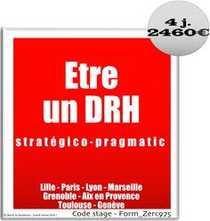 Etre un DRH stratégie-pragmatique. HRBP. DRH business partner.
