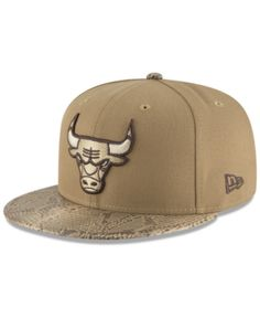 8c68de28244 New Era Chicago Bulls Snakeskin Sleek 59FIFTY Fitted Cap - Tan Beige 7