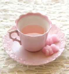 Pretty and pink tea! Don't forget to follow me! xo Emma