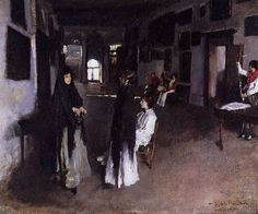 Great art from Art Authority: A Venetian Interior by Sargent, John Singer