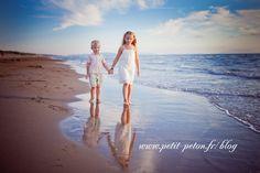 Séance photo enfant à la plage et mer