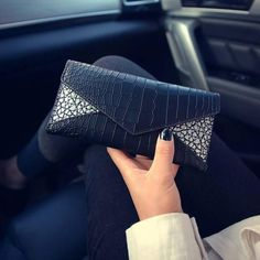 Fashion Lady Women Black Leather Clutch Wallet Long Card Holder Case Purse uf #Unbranded