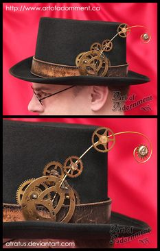 "Normally, I'm big about ""steampunk is more than just slapping some cogs on something"", but in this case... the cog/feather totally works for me :)"