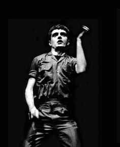 Ian Curtis on stage by Anton Corbijn, London, 1980