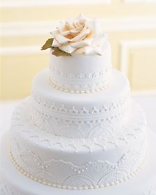 NYC pastry chef Ron Ben-Israel collaborated with us on this beautiful white wedding cake more than ten years ago.