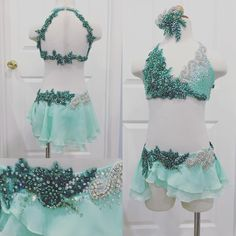 A beautifully sweet mint and emerald lyrical for Emma of Renner Dance!! 💖💖💖 . . #amparocostumes #customdancecostumes #customdesign #dance #lyricaldance #lyricaldancecostume #swarovski #bling