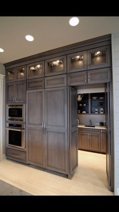 Faux pantry doors for laundry room entrance