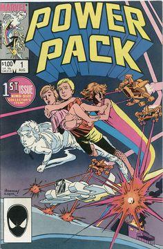 Power Pack #1, june 1984, cover  by June Brigman and Bob Wiacek.