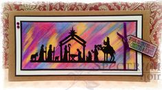 See Nicky's fabulous silhouette background tutorial with blendable pencils!