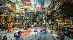 Dünyanın en ilginç kitapçısı & Çin'in Zhejiang Eyaleti'nde bir kitapçı farklı iç mimarisiyle dikkat çekiyor. ♥♥♥  A bookstore in the world's most interesting bookstore & China's Zhejiang Province attracts attention with a different interior.