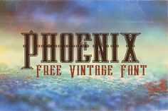 Phoenix – Free Font with extended license!