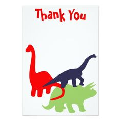 Dinosaur Birthday Party Thank You Flat Cards Announcements