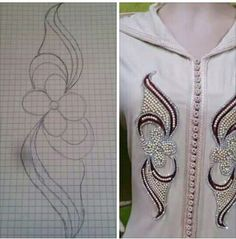 Needle and Hook: Lesage Level 2 - Salvabrani - Salvabrani - Salvabrani Pearl Embroidery, Embroidery Motifs, Bead Embroidery Jewelry, Hand Embroidery Designs, Beaded Embroidery, Machine Embroidery, Sewing Stitches, Sewing Patterns, Lace Design