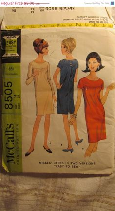 SALE Uncut 1960's McCall's Sewing Pattern 8505 by EarthToMarrs, $7.20