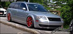 passat wagon | Slammed VW Passat Wagon on Bentley wheels at the Wörthersee Tour 2010 ...