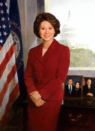 Elaine Lan Chao (Chinese: 趙 小 蘭; born March 26, 1953 is an American economist who served as the 24th U.S. Secretary of Labor under President George W. Bush from 2001 to 2009. Born in Taiwan to Chinese parents, she was the first Asian American woman in U.S. history to be appointed to a U.S. president's cabinet.She is married to U.S. Senate Majority Leader Mitch McConnell.