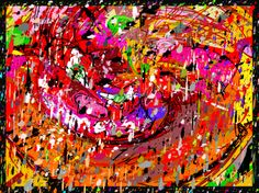 "Jackson Pollock is my inspiration for, ""Ralph Pollock,"" by Nicole Rubel. www.nicolerubel.com"