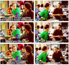 The guy #Sheldon propositions in this ep of the Big Bang Theory is Jim Parsons' real life boyfriend -- o/ so awesome!!! #BigBangTheory