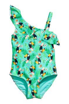 e435d6a3a1f0 Maillot de bain à motif - Vert menthe - ENFANT