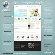 Creator homepage structure #wordpress http://preview.ait-themes.com/creator/wp/ $50