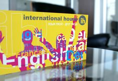Amazing cards for language school International House