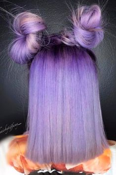 A pastel purple hair color has become quite popular nowadays. Try this color and show off your unique personality with the help of our ideas.