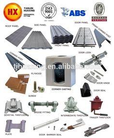 Container Roof Top panneaux Construction composants pièces de montage