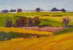 """Oil on canvas, """"Canola Fields,"""" by Yvonne Ankerman, Fine Art America."""