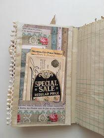 Tsunami Rose Designs: DT Project: Beth Wallen- Vintage Mini Junk Journal using various Ephemera Packs Fabric Journals, Journal Paper, Art Journal Pages, Art Journals, Journal Sample, Handmade Journals, Handmade Books, Vintage Journals, Kirigami