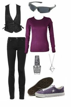 Hawkeye inspired outfit. One of the few I've seen that I might actually wear. I really like the converse.