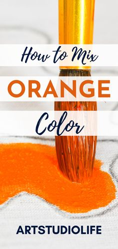 This was great for seeing how to mix colors - I knew the basics of how to mix orange color but I didn't realize how to mix so many different shades of orange colors!