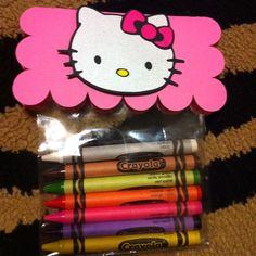 Lembrancinha da Hello Kitty - Giz de Cera