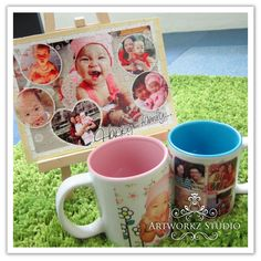 ::: DIY Photo Sparkling Puzzle (A5 size) & Couple Mugs :::