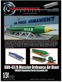 "The basic operational concept of the Massive Ordnance Air Blast bears some similarity to the BLU-82 Daisy Cutter. Pentagon officials suggested that the Massive Ordnance Air Blast be used as an anti-personnel weapon, as part of the ""shock and awe"" strategy integral to the 2003 invasion of Iraq."