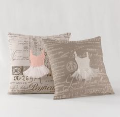 Appliquéd Ballerina Decorative Pillow Cover & Insert | Decorative Pillows | Restoration Hardware Baby & Child